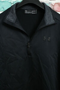 Under Armour Loose Coldgear Mens 1/4 Zip Golf Warm Up Sweatshirt Size M, Medium