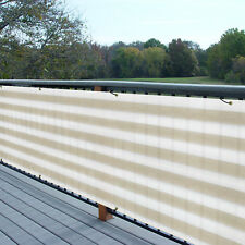 3' Ft Tall Black Green Privacy Fence Deck Screen Balcony Railing Shade Fabric
