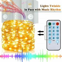 10M 100LED USB Copper Wire RGB Fairy String Light W/ Remote Control Xmas Party R