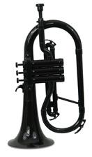 Coolwind CFG200BK Plastic flugelhorn Bb, black, with soft bag
