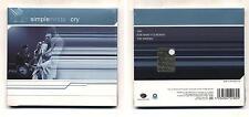 Cd SIMPLE MINDS Cry - NUOVO Eagle 2002 Cds singolo single 3 tracks