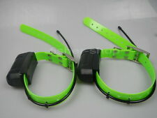Lot of 2 GARMIN DC40 GPS dog collar for ASTRO220/320 USA Version Green straps