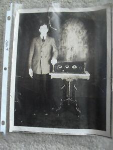 Vintage 1927 Clyde D Kiebach Hamilton Coast Radio Show Photograph
