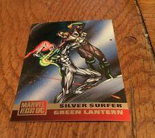1995 MARVEL VS DC Silver Surfer Green Lantern Cosmic Clash Nelson Trading card