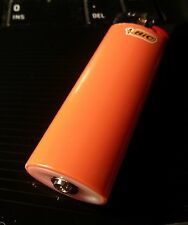 Refillable Regular Full Maxi Bic Lighter Save Money, Save the Planet ORANGE