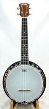 Rally walnut Concert Ukulele banjo,chrome surface,hardcase,DUB-2F series