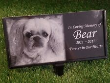 Personalized Pet Stone Memorial Grave Marker Granite Plaque Animal Human 003 Dog