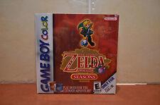 The Legend of Zelda Oracle of Seasons Nintendo Game Boy Color FACTORY SEALED!