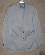 Mens fine gray herringbone wool suit by Ralph Lauren size 46 R