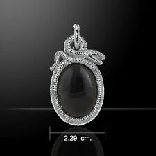 Snake .925 Sterling Silver Pendant by Peter Stone
