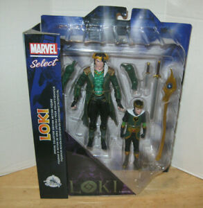 """Marvel Select ~ Special Collector Edition 7"""" Loki Figure w/ Kid 2 Pack ~ NIP"""