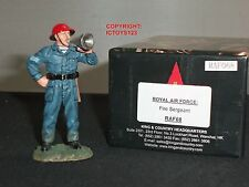 KING AND COUNTRY RAF68 ROYAL AIR FORCE FIRE SERGEANT METAL TOY SOLDIER FIGURE