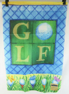 New Toland Accent Banner Garden Flag - Golf Balls and Tees - Sunlight Resistant