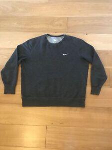 Nike Mens Crew Grey Sweater Size XL
