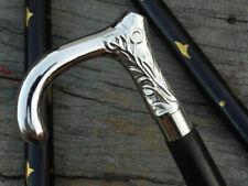 Silver Brass Designer Head Handle Wooden Vintage Style Walking Cane Wooden Stick