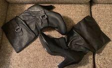 "Style & Co. "" Ennvey "" Black Mid Calf Fashion Boots, Vegan 9M - Side Buckle"
