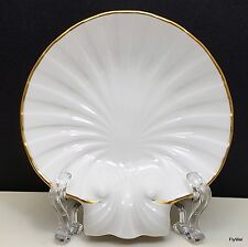 "Noritake Sea Shell Trinket Dish 5"" Ivory Gold Trim Ring Holder Candy N3893"