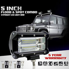 5'' Inch 72W LED Work Light Bar Flood Driving Lamp For Jeep Truck Boat Offroad