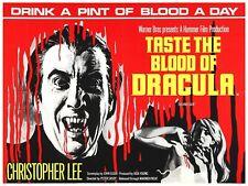 "TASTE THE BLOOD OF DRACULA repro UK quad poster 30x40"" Hammer Horror FREE P&P"