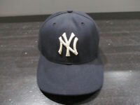 New Era New York Yankees Hat Cap Fitted 7 1/8 Blue 2001 World Series Baseball