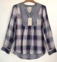MONSOON - CALANDRA DOUBLE FACED CHECK SHIRT (Brand New With Tags)​- Size 8