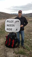 "Paragliding, Speed wing ""Pilot Needs Ride"" Sign"