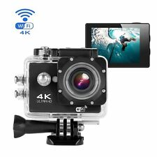 Camara Deportiva Wifi Sumergible Ultra HD Video Resolución 4k color Negro d96