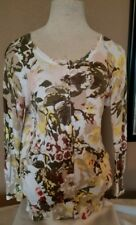 Anthropologie Charlotte Tarantola Women Cardigan Sweater Floral Sz Medium