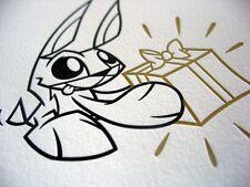 JOE LEDBETTER 'Bunny', 2009 SIGNED Limited Edition Letterpress Notecard Set NEW!