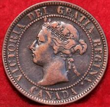 1897 Canada One Cent Foreign Coin