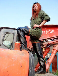 Heavy Rubber / Waders / Stiefel / Latex / Gummi / 42-43 / Boots / Overknee NEU