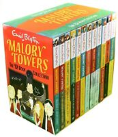 Malory Towers 12 Books Children Collection Box Set By Enid Blyton