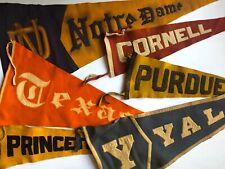 RARE! PURDUE University VINTAGE WOOL Flag PENNANT Antique STITCHED College