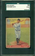 Babe Ruth 1933 Goudey #144 ** SGC 30 ** Well Centered - Yankees Legend