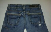 "Women's Yanuk Size 26"" x 34"" Denim jeans boot cut Destroyed Distressed Rips"