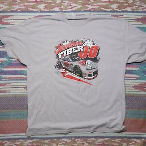 Landon Cassill Shirt Adult XL Grey Sterling Marlin Throwback Nascar Racing Mens
