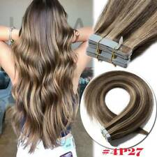 American Remy Human Hair Extensions Tape in Skin Weft Blonde Hair Straight Thick