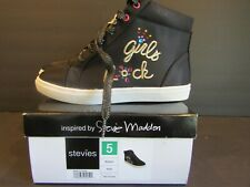 New! Stevies by Steve Madden~Camero~Size 5~Girls Rock~Black~Ankle~Tie/Zip Boots