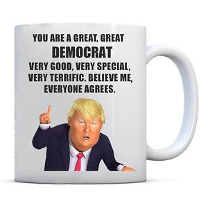 PRESIDENT DONALD TRUMP DEMOCRAT COFFEE MUG