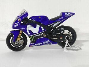 Valentino Rossi Movistar Yamaha Modèle 1:18 Echelle Motogp Moto Jouet Cadeau