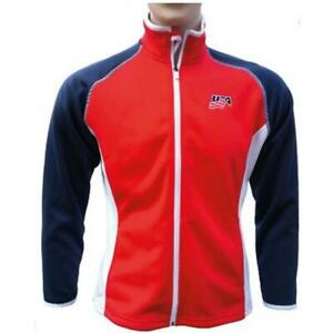 Weather Apparel 58032-053-LG Women Poly-Spandex Jacket - Red Body Navy Sleeve...