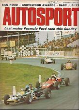 AUTOSPORT 2nd NOVEMBRE 1972 * RIVERSIDE può AM & Rally San Remo *