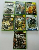 7 Xbox Games Brothers in Arms, Medal of Honor,Ghost Recon 2, Full Spectrum +More