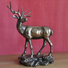 Large Stag Ornament Deer Sculpture Bronze Standing Monarch Art Figure NEW 34007