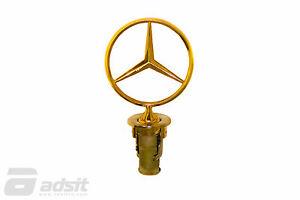 New Mercedes Benz 1977-1991 W123 W126 W201 Gold Hood Star *2018800086G