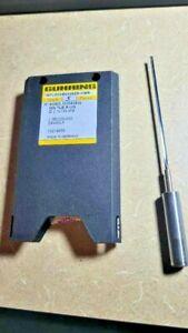 New 2.1 mm Diameter  Carbide Tube/Steel Shank Coolant Fed Gun Drill, 135 mm long