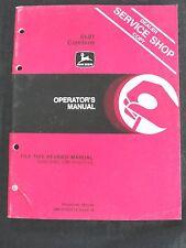 ORIGINAL 1979/80 JOHN DEERE 6601 COMBINE OPERATORS MANUAL VERY GOOD SHAPE