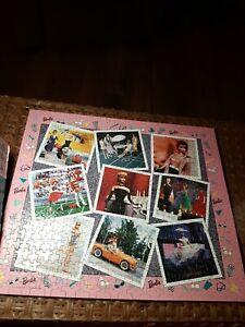 Barbie Doll Jigsaw Puzzle 550 Pc Mattel Vintage (1993) Golden Nostalgia COMPLETE