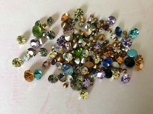 Swarovski Czech Rhinestone Jewellery 200 Mixed colour 2mm to 8mm foiled REPAIR