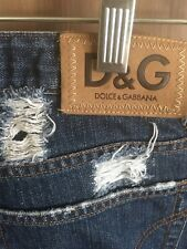 D&G, Dolce&Gabbana Ittierrie Distressed Jeans, Italy, 30/44,Dk Wash, Straight